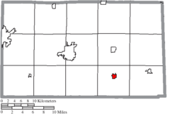 Location of Bloomville in Seneca County