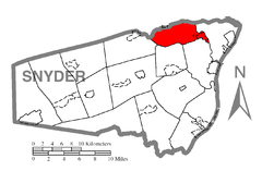 Map of Snyder County, Pennsylvania Highlighting Jackson Township.PNG