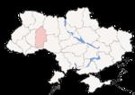 Oblast di Khmelnytskyi - Mappa di localizzazione