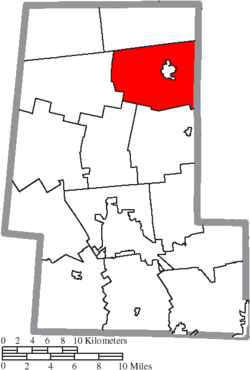 Location of Claibourne Township in Union County