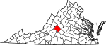 State map highlighting Amherst County