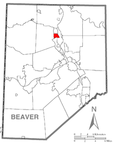 Map of White, Beaver County, Pennsylvania Highlighted.png