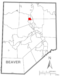 Map of Beaver County, Pennsylvania highlighting White Township