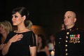 Marine takes actress Mila Kunis to birthday ball 2.jpg