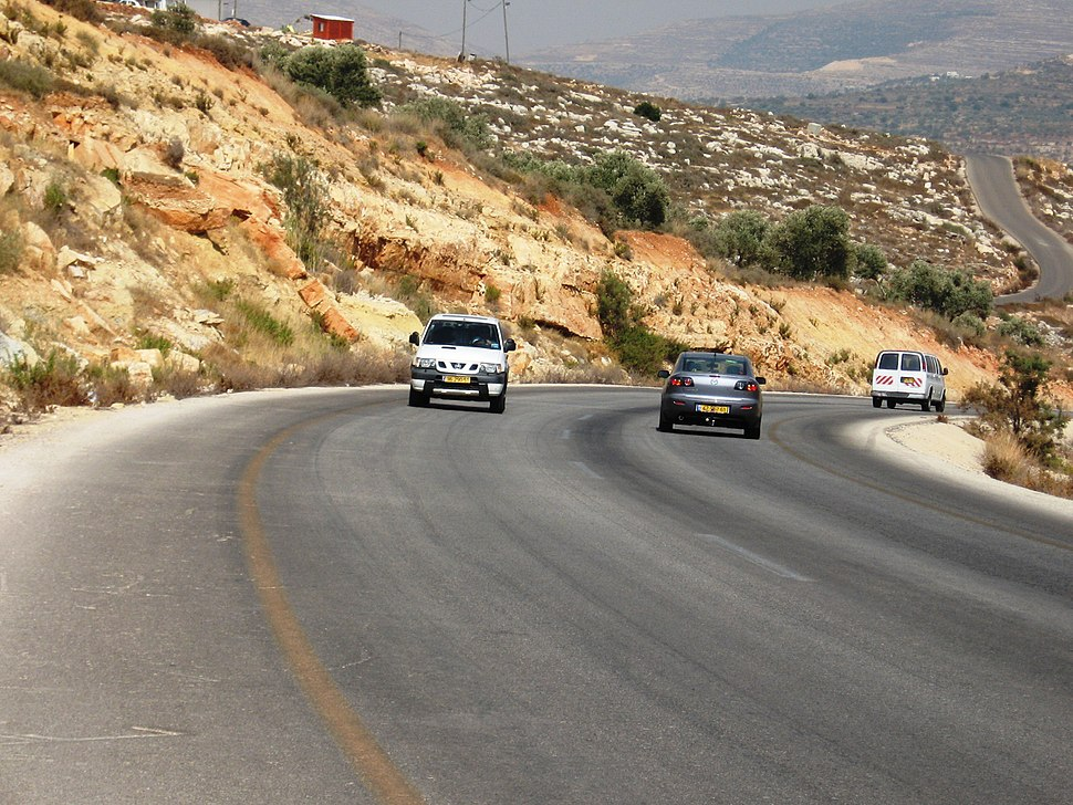 Marl Bet Meir formation road 593 from Ariel city in Shomron to road 60 2nd KM C