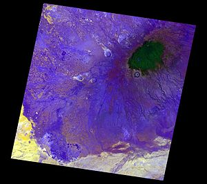 Mount Marsabit - Satellite image of Marsabit