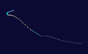 Cyclone Martin - Image: Martin 1997 track