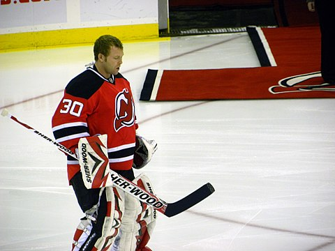 Martin Brodeur during game at Prudential Center vs Ottawa 11-25-09 3.jpeg