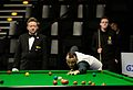 Martin Gould, Ashley Carty and Thorsten Müller at Snooker German Masters (DerHexer) 2015-02-04 01.jpg