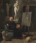 Martinus Rørbye, Portræt af maleren C.A. Lorentzen, 1827, 0218NMK, Nivaagaards Malerisamling.jpg