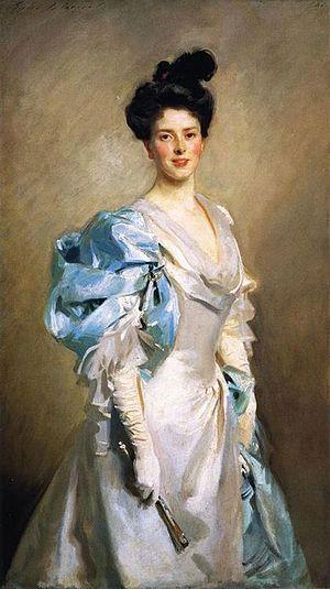 Joseph Chamberlain - Chamberlain's third wife, Mary, John Singer Sargent, 1902