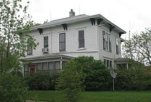 Maryville, Missouri - Mansion on South Vine Street where both Missouri governors from Maryville, (Albert P. Morehouse and Forrest C. Donnell), coincidentally lived, 2007