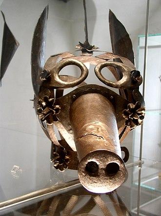 """Badge of shame - A medieval """"Mask of Shame"""", or scold's bridle"""