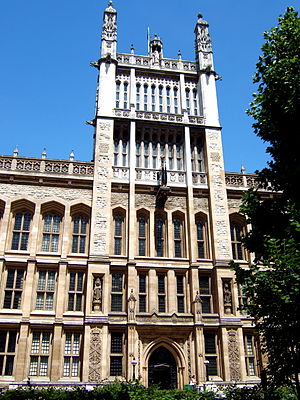 Chancery Lane - The Maughan Library and its clock tower is situated on the eastern side of Chancery Lane, opposite The Law Society.