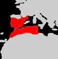 Mauremys leprosa range Map.png
