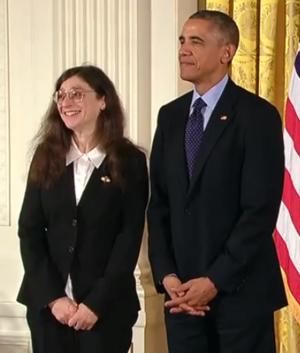 May Berenbaum - May Berenbaum with U.S. President Barack Obama