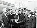 Mayor John F. Collins, Massachusetts Governor Endicott Peabody, Vice President Hubert Humphrey, Massachusetts Attorney General Edward McCormack, and unidentified men (10926347656).jpg