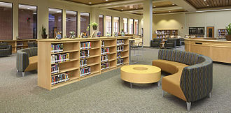 McMillen High School - The library.