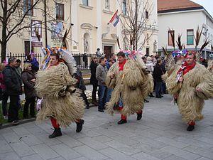 Kurentovanje - Kurents at 2014 Međimurje Carneval in Čakovec, Croatia