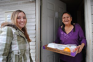 Meals on Wheels - Delivery of Thanksgiving dinner to a Meals on Wheels recipient