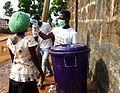 Measuring Temperature at a road block in Lakka Sierra Leone.jpg