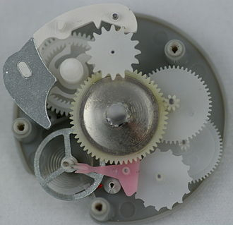 Egg timer - Clockwork mechanism of a mechanical egg timer.