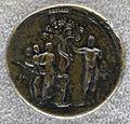 Medaglione di antonino pio, 145 dc, verso con ercole nel giardino delle esperidi.JPG
