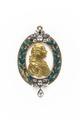 Medaljon i form av lagerkrans med Gustav III i guld, från 1778 - Skoklosters slott - 93224.tif