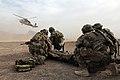Medical evacuation training at FOB Farah, Afghanistan (8370939734).jpg