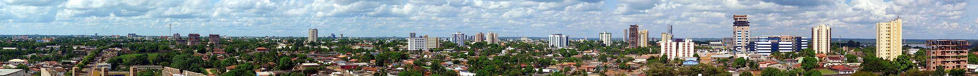 Vista Panorâmica de Porto Velho a partir do bairro Pedrinhas, em maio de 2010.