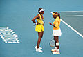 Melbourne Australian Open 2010 Venus and Serena Chat.jpg
