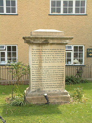 Battle of Mortimer's Cross - 1799 memorial to the battle in Kingsland