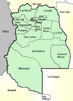 Mendoza province (Argentina), departments and its capital, with names.png