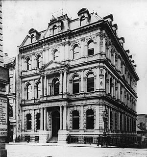 Hugh Allan - Merchant's Bank Building on St. James Street, Montreal. 1870