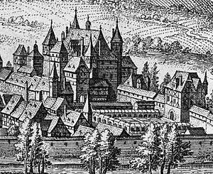 Simmern - Schloss Simmern as depicted by Matthäus Merian in 1648