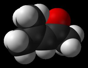 Mesityl oxide - Image: Mesityl oxide 3D vd W