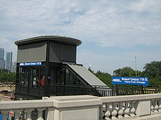 Museum Campus/11th Street station - Image: Metra Museum Campus 11th St entrance