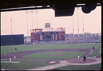 Metropolitan Stadium - A Twins game at the Met, July 30, 1964.