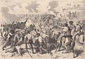 Mexique. — L'escorte gu général Cortès, commandée par le capitaine de frégate Gazielle, est attaquée par les forces de colonel Rosalès près de San-Pedro. (Croquis de M. C. V.).jpg