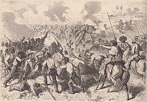 Battle of San Pedro - The escort of General Cortès, commanded by Frigate captain Gazielle, attacked by the forces of Colonel Rosales near San Pedro.