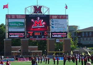 2007 Cincinnati Bearcats football team - After the game UC's band plays in front of the scoreboard showing the final score