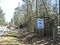 Miccosukee Volunteer Fire Station road sign.JPG