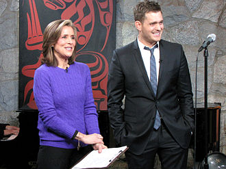 Meredith Vieira - Vieira with Michael Bublé