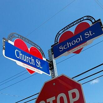 Middleton, Nova Scotia - Colourful Middelton street signs