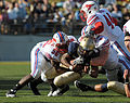 Midshipmen on offense at SMU at Navy 2010-10-16 1.jpg