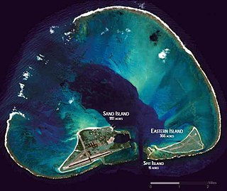 Midway Atoll One of the United States Minor Outlying Islands in the Hawaiian archipelago