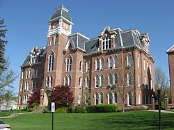 Miller Hall, Waynesburg, front and side.jpg
