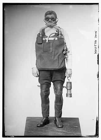 Mine rescue - U.S. mine rescuer, c. 1912