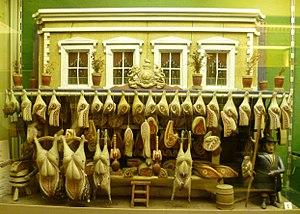 Museum of Childhood (Edinburgh) - Image: Miniature butcher's shop (1880s), Edinburgh Museum of Childhood