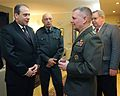 Minister of Defense David Sikharulidze, Georgian Chief of Defense Devi Tchonkotadze and Ambassador John Tefft listen to US Marine James Cartwright, vice chairman of the Joint Chiefs of Staff. Tbilisi, Georgia (March 30, 2009) (A).jpg